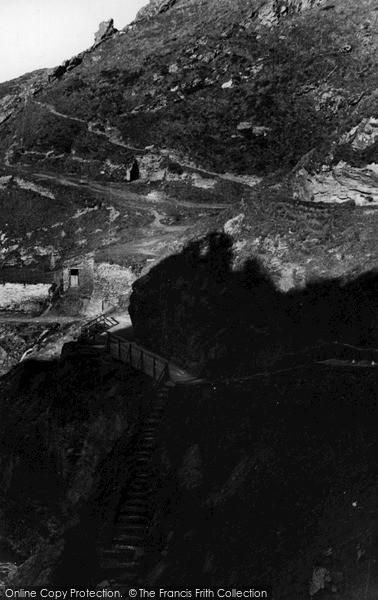 Photo of Tintagel, The Castle Bridge c.1955