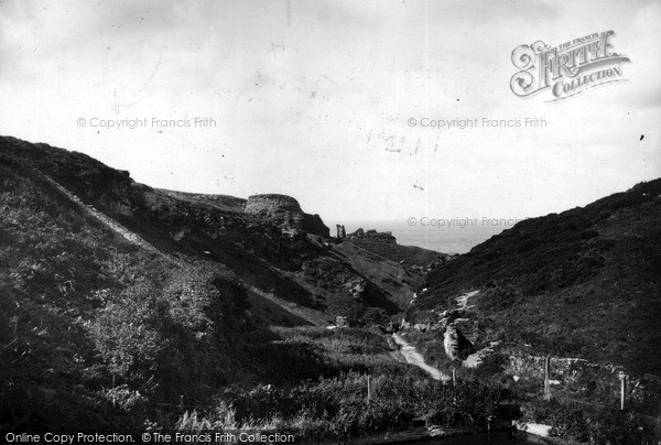 Photo of Tintagel, The Castle c.1955