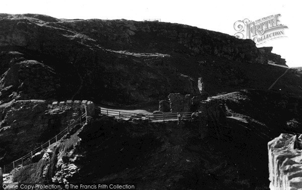Photo of Tintagel, The Castle From Middle Ward c.1955
