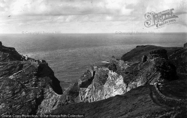 Photo of Tintagel, The Castle From The South c.1955