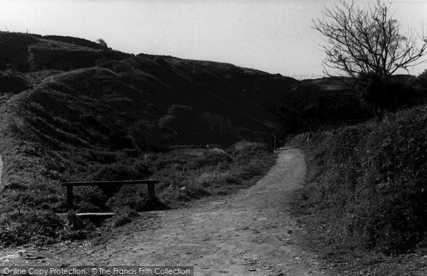 Photo of Tintagel, The Castle Path c.1955