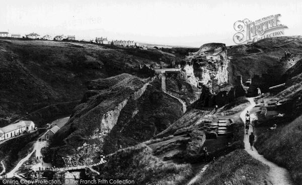 Photo of Tintagel, The Castle Ruins c.1960