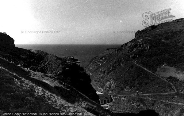 Photo of Tintagel, The Castle Slopes c.1955
