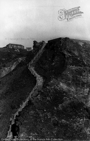 Photo of Tintagel, The Castle Steps c.1955