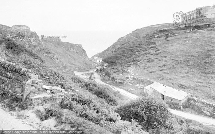 Photo of Tintagel, The Castle, Valley And Hotel c.1900