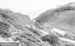 The Castle, Valley And Hotel c.1900, Tintagel