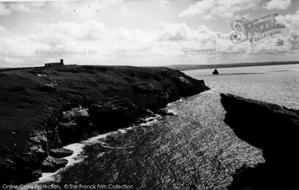 Photo of Tintagel, The Church And Glebe Cliff c.1960