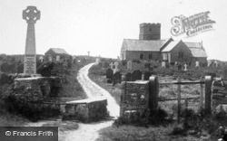 The Church And War Memorial c.1930, Tintagel