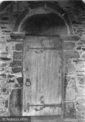 Tintagel, The Church, North Door 1894