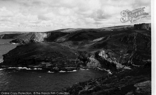 Photo of Tintagel, The Coastline From King Arthur's Castle c.1960