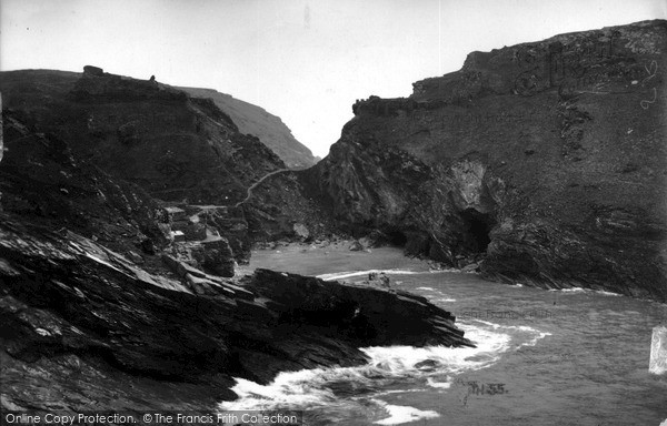 Photo of Tintagel, The Cove From Barras Head c.1955