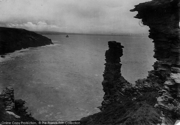 Photo of Tintagel, The Duke Of Wellington Rock 1920