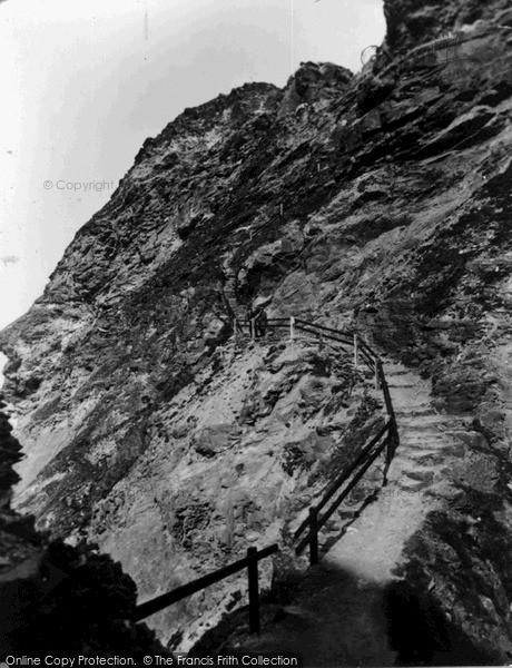 Photo of Tintagel, The Island Steps c.1955