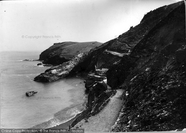 Photo of Tintagel, The Old Quay Side c.1955