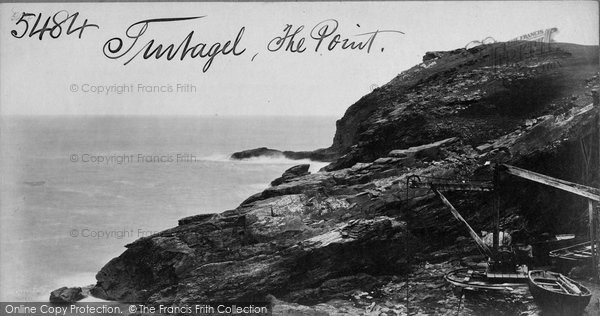 Photo of Tintagel, The Point c.1870