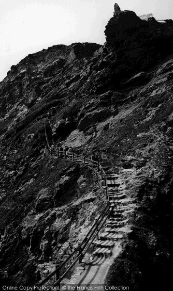 Photo of Tintagel, The Steps c.1960