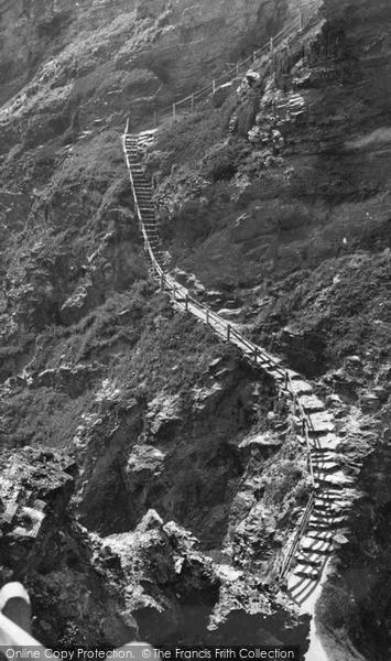 Photo of Tintagel, The Steps King Arthur's Castle c.1955