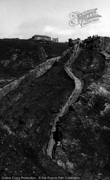 Photo of Tintagel, The Steps, King Arthur's Castle c.1955