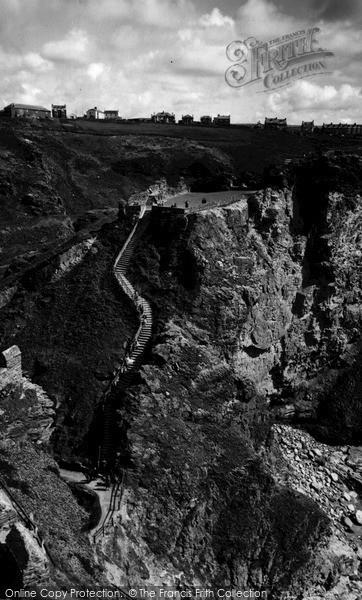Photo of Tintagel, The Steps King Arthur's Castle c.1960