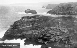 The View From Tintagel Head c.1930, Tintagel
