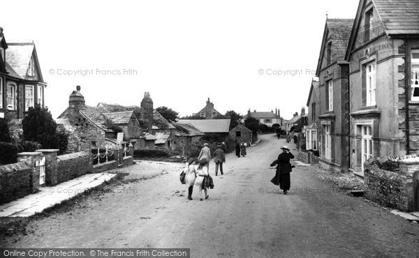 Photo of Tintagel, The Village And Post Office 1920
