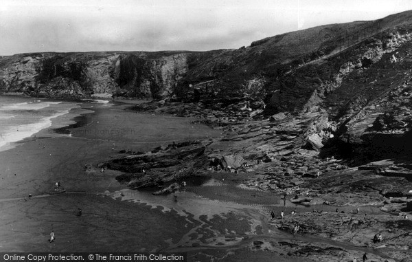 Photo of Tintagel, Trebarwith Strand c.1955