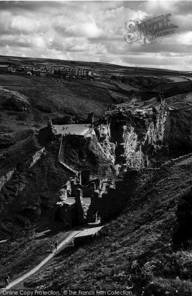 Photo of Tintagel, View From King Arthur's Castle c.1960
