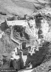 View From King Arthur's Castle c.1960, Tintagel
