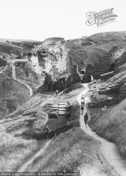 Photo of Tintagel, Visiting The Castle Ruins c.1960