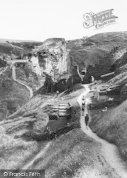Visiting The Castle Ruins c.1960, Tintagel