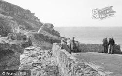 Visitors At King Arthur's Castle c.1955, Tintagel