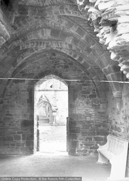 Photo of Tintern, Abbey, Entrance To Cloister Court 1924