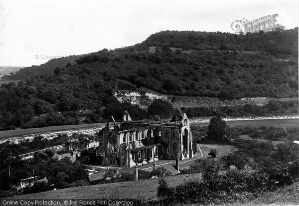Photo of Tintern, Abbey From Chapel Hill 1893