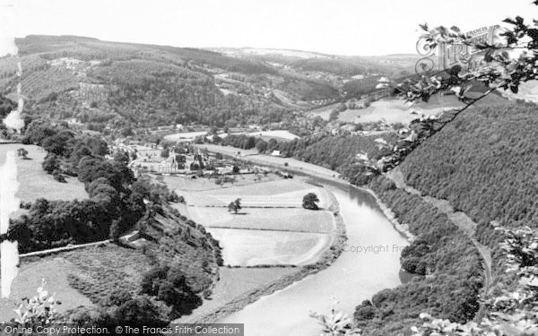 Photo of Tintern, Abbey From Horsepeace Rock c.1955