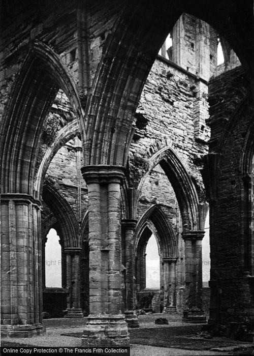 Photo of Tintern, Abbey Interior c.1935