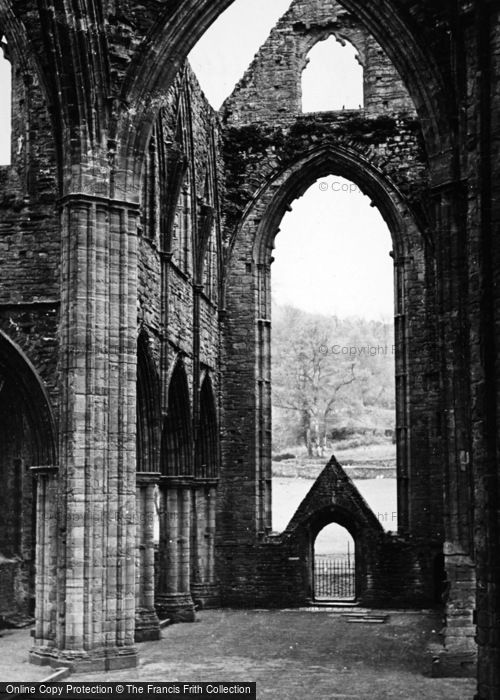 Photo of Tintern, Abbey, Interior c.1955