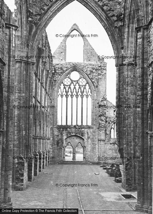 Photo of Tintern, Abbey Interior c.1955