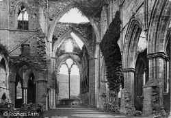 Tintern, Abbey Nave Looking East c.1878