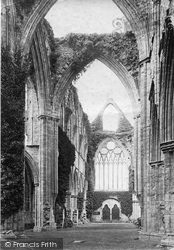 Tintern, Abbey Nave Looking West c.1878