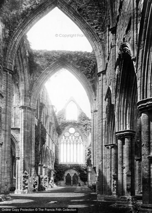 Photo of Tintern, Abbey, Nave West 1893