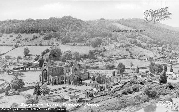 Photo of Tintern, Abbey, 'surprise View' c.1955
