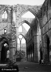 Tintern, Abbey, The Nave And East Window c.1950