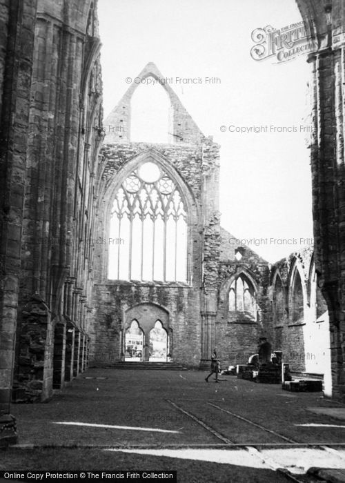 Photo of Tintern, Abbey, The Nave And West Window c.1950