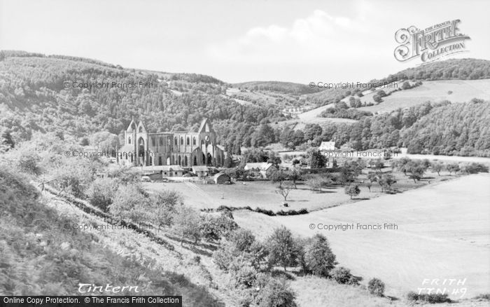 Photo of Tintern, The Abbey And Surrounds c.1955