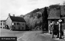 Tintern, The Village And Petrol Pumps c.1950