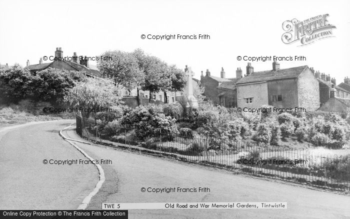 Photo of Tintwistle, Old Road And War Memorial Gardens c.1960