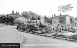 Old Road And War Memorial Gardens c.1960, Tintwistle