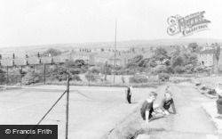 The Bowling Green And Tennis Courts c.1960, Tintwistle