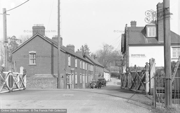 Photo of Tipton St John, Street And Railway Crossing c.1939