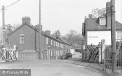 Street And Railway Crossing c.1939, Tipton St John